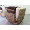 Environmentally friendly Design Water Hyacinth Wicker Sofa Set for Living Room