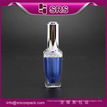 SRS high quality cosmetic acrylic 8ml empty nail varnish bottles