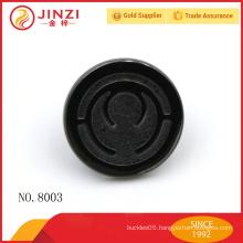 Black color custom circle metal label,engraved logo scutcheon for handbags