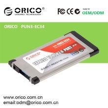 ORICO PNU3-EC34 Laptop USB3.0 Express Karte, Notebook Expresscard USB 3.0 Adapter
