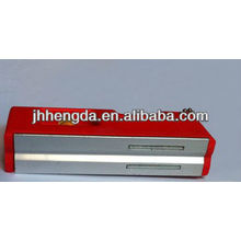 HD-MN04, nível de bolha de plástico mini com 3 frascos, nível de alumínio
