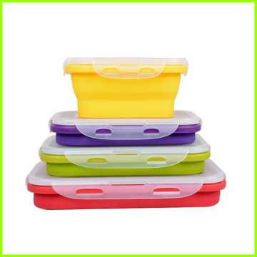 Lunch box riutilizzabile in silicone per uso alimentare