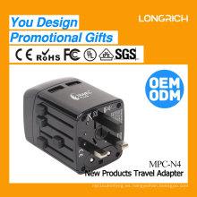 Adaptador de viaje en todo el mundo diseño OEM 2017 artículos de regalo promocional adaptador de enchufe de viaje N4