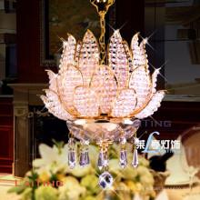 LAITING American Country Style Arbre Feuille Chandelier K9 Lampadario Cristal Luminaire Lotus Suspendus Lampes LT-71001