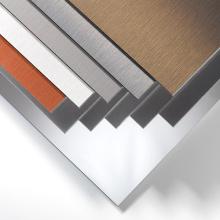 Revestimiento de pared externa Panel compuesto de aluminio cepillado