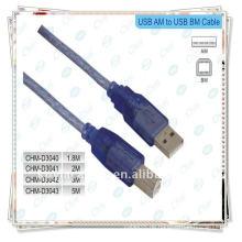 Vernickeltes USB-Druckerkabel, 2.0 A Stecker auf B-Stecker