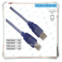 Câble d'imprimante USB nickelé, 2,0 A Male to B Male Cable