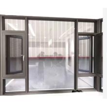 Fenster aus gehärtetem Glas mit Aluminium kippen und drehen