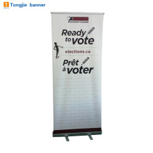 Pull up advertising banner stand