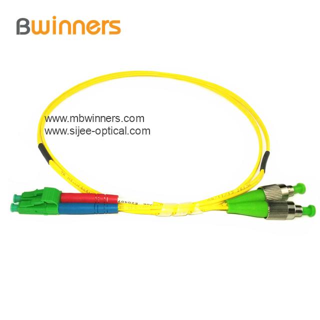 Fc Apc Lc Apc Duplex Sm Fiber Optic Patch Cord