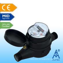 Medidor de agua plástico de tipo seco de certificado Multi Jet mediados