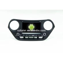 DVD del coche de Quad core 4.4Android con el vínculo del espejo / DVR / TPMS / OBD2 para el sistema androide completo de la pantalla táctil de 7 pulgadas Hyundai I10