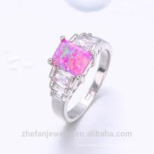Guangzhou gemstone jóias mercado anel de opala design de jóias de prata chinesa