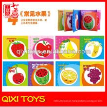 Preço direto da fábrica frutas tecido bebê livro livro voz tecido livro