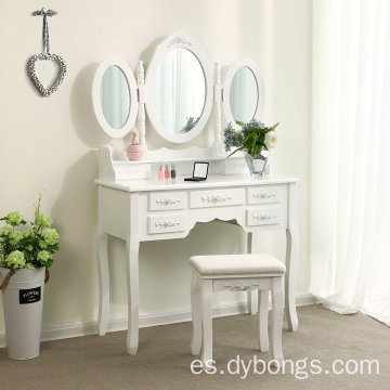 modern Large-capacity white dressing table mirror furniture
