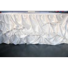 Hochzeit Dekoration satin gekräuselten Tisch Rock