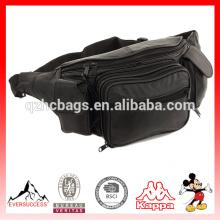 Новый большой кожаный поясная сумка Талия бедра Поясничная сумка с двойной карман сотовый телефон