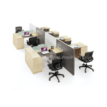 New Modern Office Staff Table Computer Wooden Workstation (HF-YZT0060)