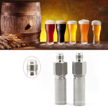 """Stainless Steel 1.5""""  Tri Clamp Fitting Diffusion Stone 2 Micron Aeration Stone  Carbonation Stone with 1/4"""" NPT female thread"""