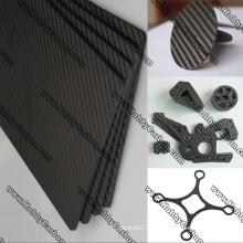 Placas de vidro de carbono Matte Glossy Hobby Toy