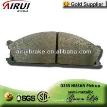 D333 OE quality Nissan pick up semi-metallic brake shoe