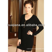 100% cashmere sweater knitting dress for women
