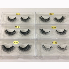Wholesale natural looking synthetic 3d false eyelash with custom packaging or private label