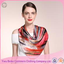 Bunter silk Schal der heißen Verkaufsqualität für Anstrich