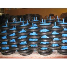 uso de 13 pulgadas rueda maciza para carretilla