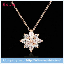 Moda zircão pedra pingente colares cz jóias por atacado para as mulheres