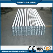 Zingué galvanisé tôle d'acier ondulée pour couverture