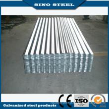 Zinco galvanizado revestido de chapa de aço ondulada para coberturas