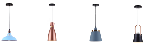 Modern Copper Glass Pendant Lamp