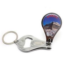 Рекламные Подарочные Эпоксидные логотип ногтей Clipper Брелок с открывалка (F5062)