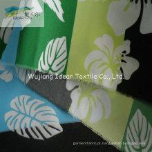 75DX300D impresso tecido de microfibra de poliéster liso pele pêssego para o vestuário