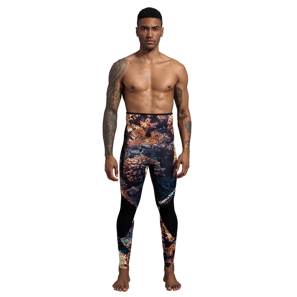 Seaskin Two Pieces Camo Wetsuit for Men