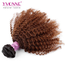Wholesale Afro Kinky Curly Brazilian Ombre Hair Weaves
