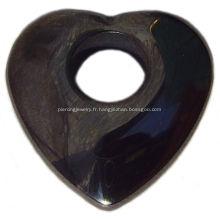 Pendentif coeur hématite bijoux de pierres précieuses bijoux de pierres précieuses