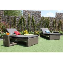 Sofá moderno de la rota de Poly y tumbona de Sun para los muebles al aire libre de la playa y del centro turístico