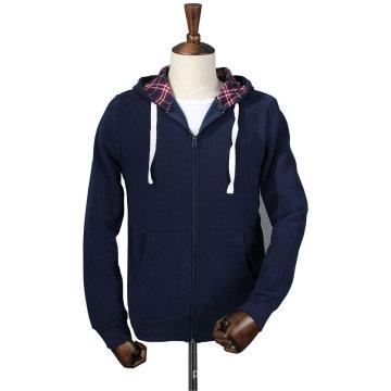 Wholesale Customized Fashion Men′s Plain Fleece Gym Hoodie