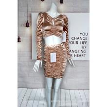 Traje de tela de mancha de mujer de último diseño