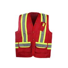 Vente chaude Gilet de sécurité haute visibilité avec poche arrière