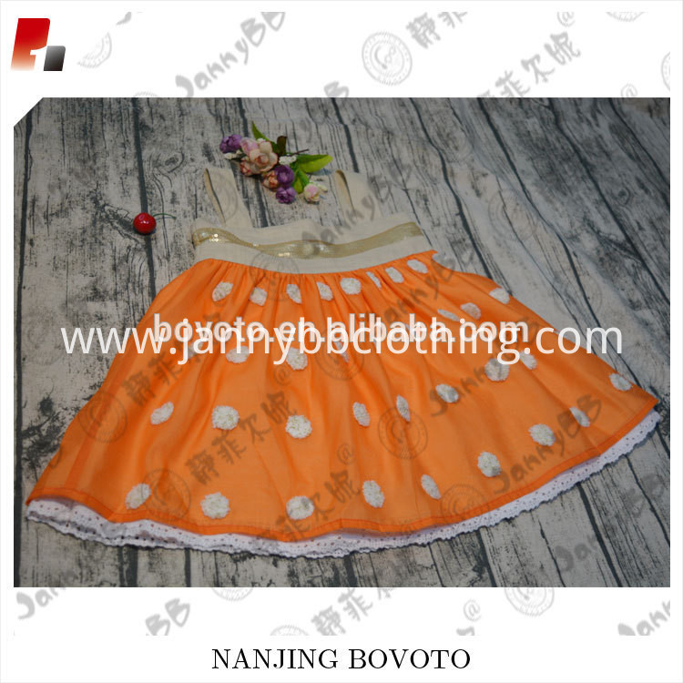 orange dots dress04
