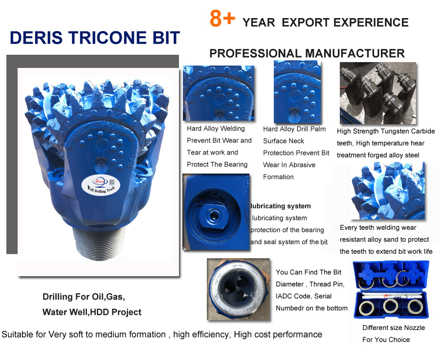 oil well steel tooth tricone bit