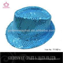 Wholesale sequin fedora hat flashing hats