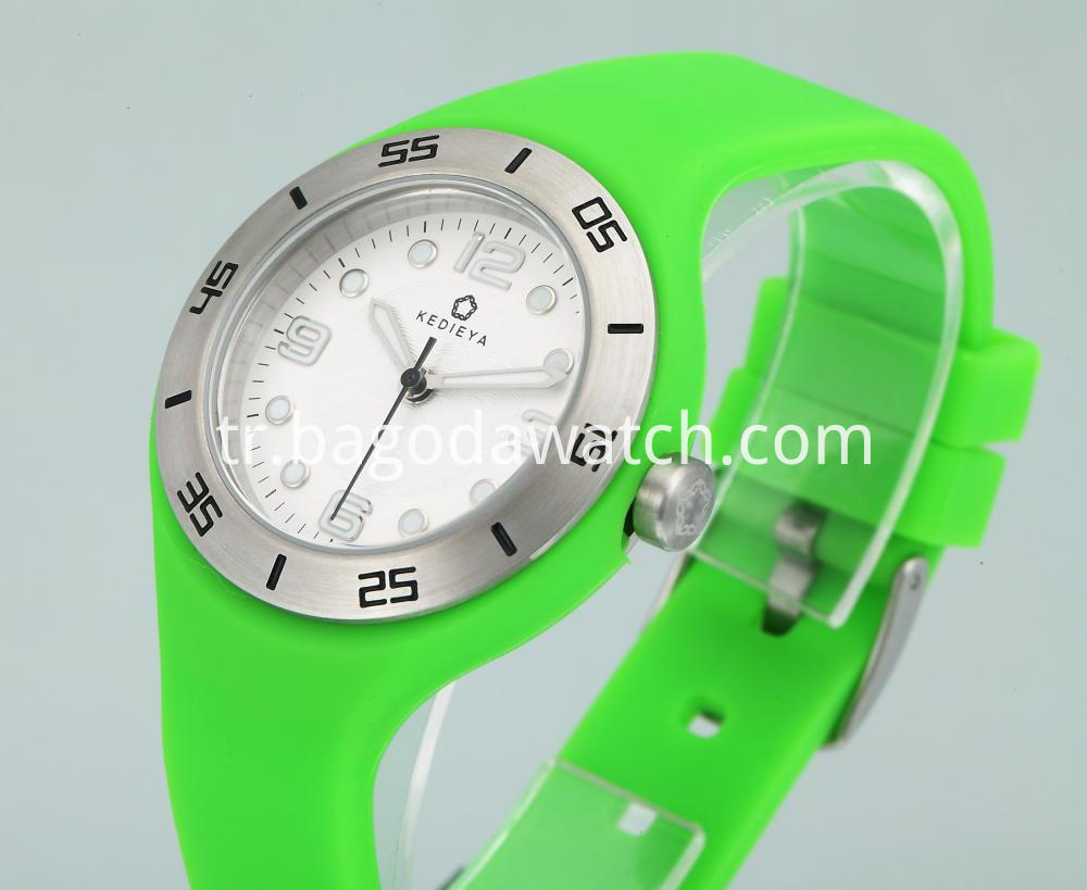 Green Silicone Strap Watches