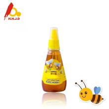 Mel de pura casta em frascos de mel