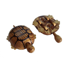 Holzschildkröte Spielzeug für Kinder oder Dekoration mit Holz gemacht
