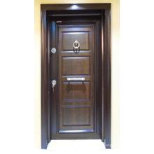Puerta blindada de seguridad de acero simple Dseign