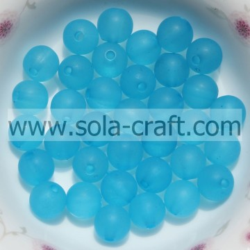 Pretty Transparent And Polish Spacer 8MM Blue Color Spray Painted Beads